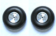 Aluminium Hub Rubber PU Wheels 3.25''