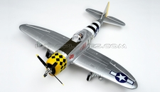 New Airfield 6Ch 2.4Ghz P-47 1400mm Brushless Warbird RC Plane w/Electric Retracts + Flap RTF (Silver)