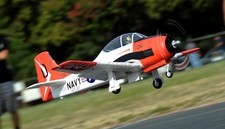 AirField RC T28 1400mm Radio Control Warbird Plane  *Super Scale* EPO Foam Plane + Electric Retracts (Red) Kit Version