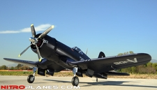 Super Detail EPO 5-CH AirField RC 1430MM F4U Corsair Warbird Plane ARF w/ Brushless Motor/ESC+Electric Retracts(Blue)