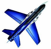 64mm Concept X Super Performance Ducted Fan RC Jet Airframe Only (Blue)