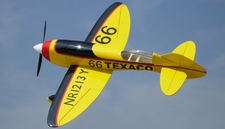 Nitroplanes 4 Channel RC EP GeeBee Balsa Wood 1000 Wingspan Kit (Yellow)