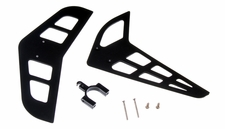 Vertical and horizontal tail blade set