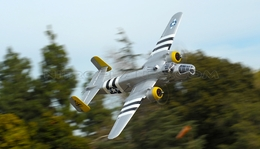 "NEW 7 Channel AirWingRC B25 Bomber 63"" Scale Electric RC Warbird ARF w/ Motor + ESC + Servos (Silver)"