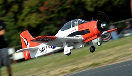 2.4G 6-Channel AirField RC T28 1400mm Radio Control Warbird Plane w/ Brushless Motor/ESC/Lipo 100% RTF *Super Scale* EPO Foam Plane + Electric Retracts (Red)