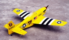 "New Yellow P-51D Mustang 52 - 58"" Nitro Gas Radio Remote Control ARF Warbird Plane w/ Retractable Landing Gear V2"