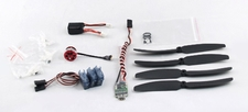 AEO C10 Power System 2900kv Motor+ESC+Servo+Battery+Prop+Prop Saver