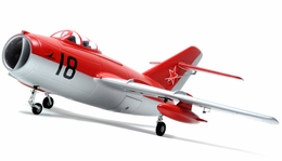 Exceed RC 2.4Ghz Mig-15 70MM Electric Ducted Fan Remote Control RTF Ready to Fly w/ Metal Electric Landing Gear (Red)