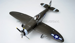 6-CH Airfield RC 1400mm P-47 Warbird Plane w/Brushless Motor+ESC+Electric Retracts+Flap ARF (Green)