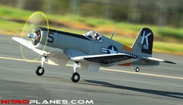 AirField RC F4U Corsair 1430MM Warbird Plane *Super Scale* EPO Foam Plane + Electric Retracts Airframe KIT (Gray)