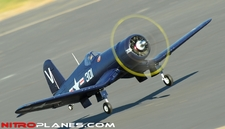 AirField RC F4U Corsair 1430MM Warbird Plane *Super Scale* EPO Foam Plane + Electric Retracts Airframe KIT (Blue)