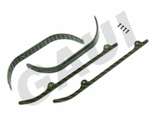 CF Landing Gear Brace and Skid Set-Silver