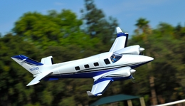 AeroSky B60 Duke 6 Channel Twin Engine Kit Wingspan 1600mm RC Plane (Blue)