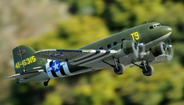 Dynam 4-CH C47 Transporter 1470MM Brushless RC Remote Control Twin Engine Airplane 2.4G RTF (Green)