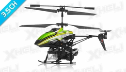 WL Toys V757 Bubble Master Co-Axial 3.5 Channel RC Helicopter (Green)