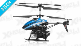 WL Toys V757 Bubble Master Co-Axial 3.5 Channel RC Helicopter (Blue)