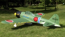 "Zero Fighter 40 - 53.5"" Scale Nitro Gas Radio Remote Control Warbird Airplane with Retract!!"