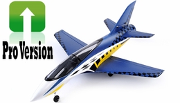 Exceed RC 2.4Ghz Concept X PRO Version 64mm Super Performance Brushless Ducted Fan RC Jet RTF w/ 4 Cell Lipo (Blue)