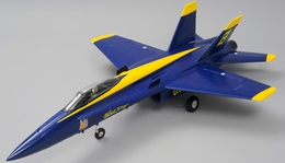 Airfield 4 Channel RC F/A 18 Blue Angel 64mm EDF Almost Ready to Fly Jet 686mm Wingspan (Blue)