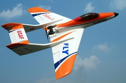 "White Falcon 120 - 63"" Nitro Gas Radio Remote Controlled R/C Pusher Jet Plane"