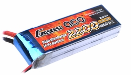 Gens ace 2200mah 2S1P 7.4V 25C Lipo battery pack