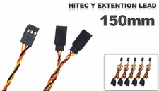 HitecY extension lead 150mm (5 pcs)