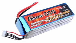 Gens ace 4000mah 4S1P 14.8V 25C Lipo battery pack