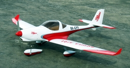The Red Brazilian Aquila AT01 50 - 66 inch wingspan 4-channel nitro gas remote controlled aircraft