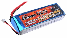 Gens ace 5300mah 2S1P 7.4V 30C Lipo battery pack