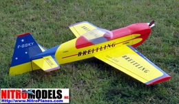 "Breitling Cap 232 - 60 - 63"" ARF Nitro Gas Radio Remote Controlled RC Airplane R/C Aerobatic Aircraft"