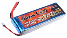 Gens ace 4000mah 2S1P 7.4V 25C Lipo battery pack