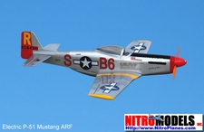 3-Channel P-51 Mustang EP ARF Electric Radio Remote Controlled RC Warbird Plane