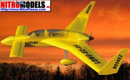 Yellow Nitro Gas Long EZ-46 Voyager Radio Remote Controlled RC Plane ARF Airplane