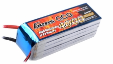 Gens ace 4000mah 5S1P 18.5V 25C Lipo battery pack