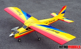 "NitroModels ARF Super Trainer 60 Yellow - 70"" Radio Remote Controlled RC Airplane"