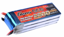 Gens ace 2200mah 3S1P 11.1V 55C Lipo battery pack