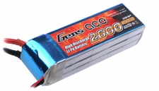 Gens ace 2600mah 3S1P 11.1V 55C Lipo battery pack