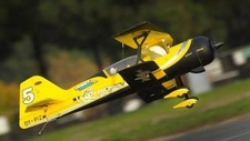 "New Dynam Peaks 42"" RC 4 Channel 3D Bi-Plane ARF w/ Brushless Motor + ESC + Servos (Yellow)"