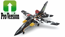 Exceed RC 5 Channel PRO Version 2.4G ARF Almost Ready to Fly 64MM F3 Tornado EDF Jet w/ Sweepback Wings (Black)