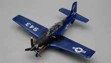 Airfield T34 Mentor RC Plane 4 Channel Kit Wingspan 750mm (Blue)