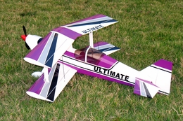 Purple Brushless Electric Ultimate BiPe ARF Radio Remote Control RC BiPlane Airplane