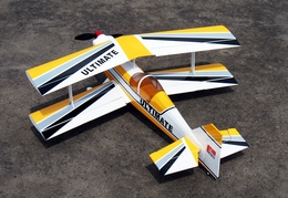 Yellow Ultra Flying Ultimate BiPE ARF Brushless Electric Radio Remote Controlled Airplane R/C Aerobatic Bi-Plane
