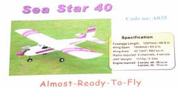 "63"" 4-Channel Sea Star Radio Remote Control Nitro Gas ARF RC Trainer 40"