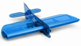 Brand New 4 Channel Sunday 22� 3D Aerobatic Scale Remote Control Plane Kit Version (Blue)