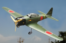 "WW2 Japanese Mitsubishi A6M Zero Fighter-25 Nitro Gas & EP 49"" Radio Remote Controlled Warbird Plane"
