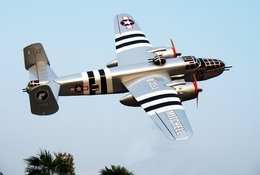 "Silver B-25J Mitchell 52 - 71"" Multi Twin Engine Nitro Gas Radio Remote Controlled RC Bomber Airplane ARF"