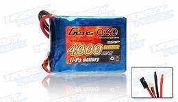 Gens Ace Lipo Battery for Receiver 7.4v 4000mAh