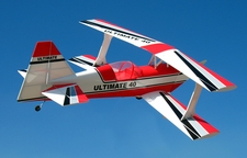 "New ARF! Red Ultimate BiPe 40 - 41.5"" Nitro Gas Radio Control RC Airplane"