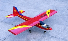 "STYLE 40 - 56"" Nitro Gas RC Airplane Trainer ARF (Red)"