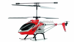 SUPER SIZED Syma S033G 3 Channel Co-axial RC Electric Helicopter w/ LED Lights & Gyroscope RTF (Red)